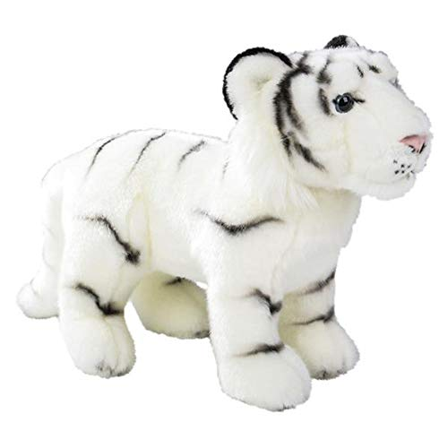 Wildlife Tree Standing 12 Inch Stuffed White Tiger Plush Floppy Animal Kingdom Collection