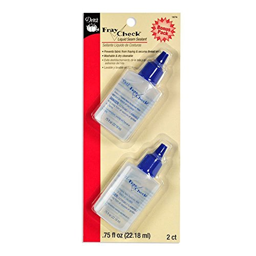 Dritz Fray Check Liquid Seam Sealant Glue Bonus Value Pack - 2 Bottles 3/4 Oz