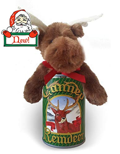 Canned Holiday Critters Special Edition Stuffed Animal (Reindeer)