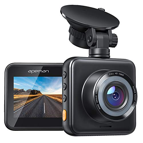 APEMAN Mini Dash Cam 1080P Dash Camera for Cars Recorder Super Night Vision, 170° Wide Angle, Motion Detection, Parking Monitoring, G-Sensor, Loop Recording