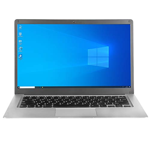 Slim Laptop for Office, 14' Full HD IPS Display, Intel Quad-Core Atom x5 N3350 Processor, 1.1Ghz CPU (2.5Ghz Max), 6GB DDR3, 64GB SSD, 10000mAh Rechargeable Battery, Windows 10 Home OS