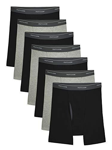 Fruit of the Loom Men's CoolZone Boxer Briefs, 7 Pack - black/Gray, Medium