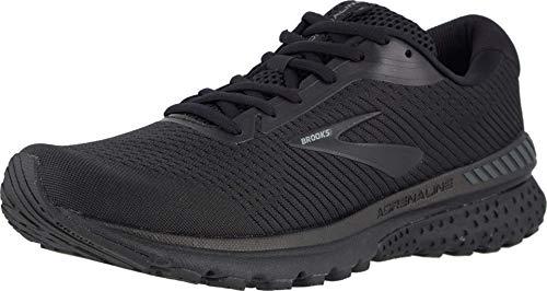 Brooks Mens Adrenaline GTS 20 Running Shoe - Black/Grey - 4E - 10.5