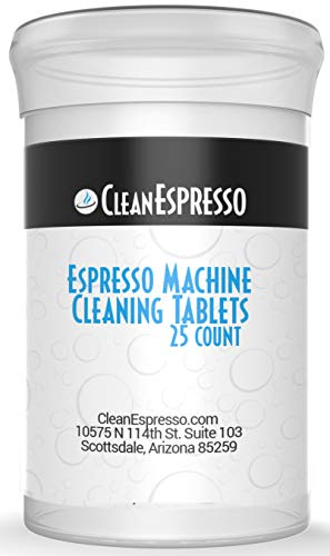 (25 Pack) Jura Espresso Machine Cleaning Tablets - CleanEspresso Model JU-25 - For Jura Espresso Machines
