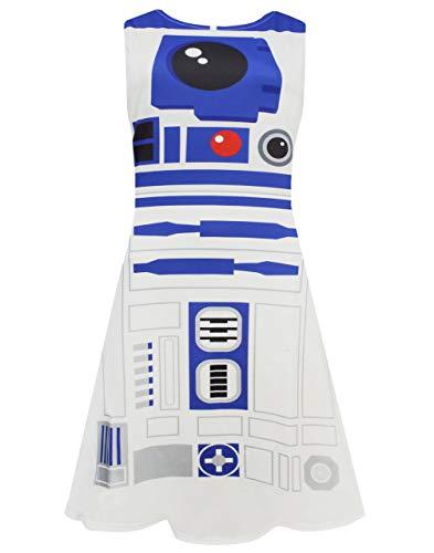 Star Wars R2D2 Women's Ladies Cosplay White Costume Cosplay Dress