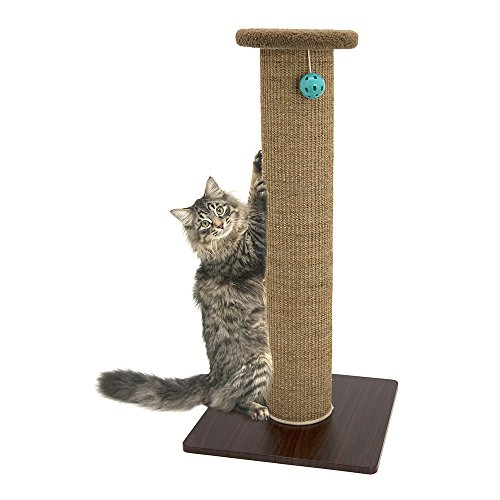 Kitty City Premium 32 inch Tall Woven Sisal Carpet Cat Scratching Post, Cat Scratching Furniture, Cat Post, 15.8 x 15.8 x 32 inches, Model Number: CM-0262-CS01