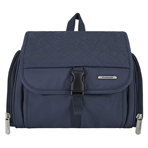 Travelon: Hanging Toiletry Kit Quilted - Steel Blue Quilted