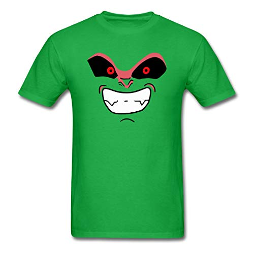 Amitata Majin Buu Kid Face Summer Style Funny Men T Shirt Bright Green X-Large