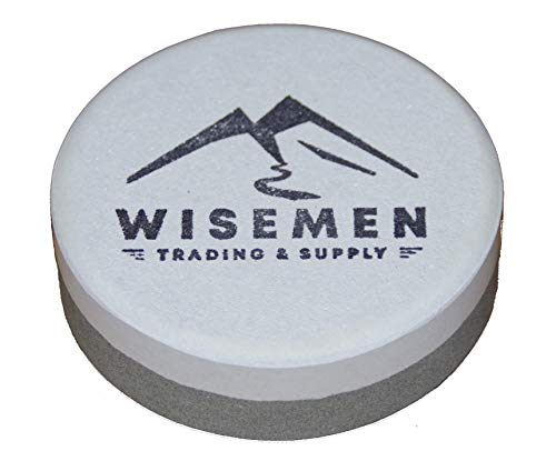 Wisemen Trading Dual Grit Sharpening Puck, Sharpening Axes, Machetes, and Other Tools.