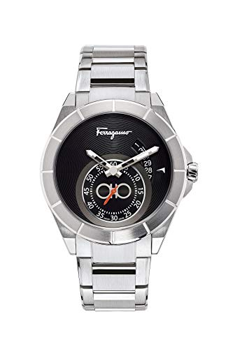 Salvatore Ferragamo Men's Ferragamo Urban Swiss Quartz Watch with Stainless Steel Strap, Silver, 22 (Model: SF1Y00419)