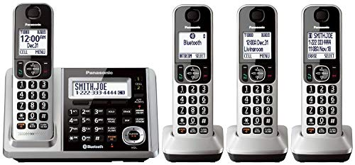 Panasonic KX-TGF374S DECT 4-Handset Landline Telephone (Renewed)