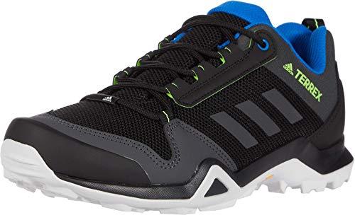 adidas mens Terrex Ax3 Hiking Boot, Black/Solid Grey/Signal Green, 10.5 US