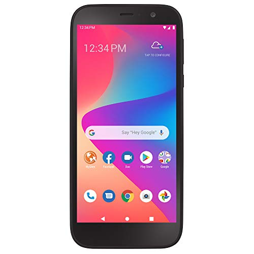 Simple Mobile Blu View 2 4G LTE Prepaid Smartphone (Locked) - Black - 32GB - Sim Card Included - GSM