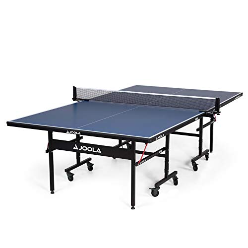 JOOLA Inside 15mm Table Tennis Table with Net Set - Features Quick 10-Min Assembly, Playback Mode, Foldable Halves