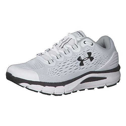 Under Armour Men's Charged Intake 4 Running Shoe, White (103)/Blue Ink, 13 M US