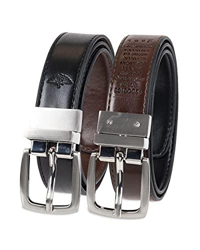 Dockers Boy's Big Reversible Dress and Casual Belts, Brown/Black, Medium