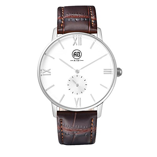 AIBI Men's AB01701-2 Analog Quartz Steel 40MM Case Small Second Dial Watch