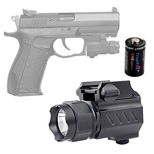 TrustFire G01 Pistol Light Compact Tactical Gun Flashlight 210 Lumen Weapon Mounted Light for G 17 19 21 22 30 43 48 and Picatinny Rail
