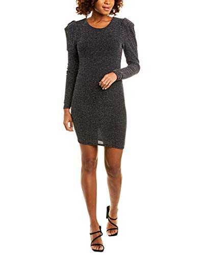 BCBGeneration Cocktail Puff Sleeve Bodycon Knit Dress Black SM (US 4-6)