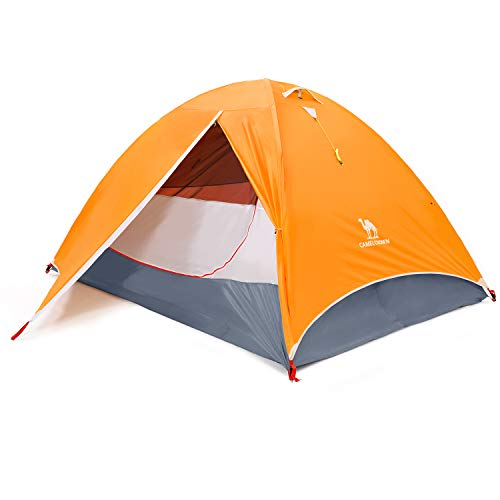 CAMEL CROWN Camping Dome Tent for Hiking,Waterproof Windproof Backpacking Hiking Tents,Easy Set up Lightweight Tents,for Outdoor Camping/Hiking/Traveling (Orange-4/5 Person)