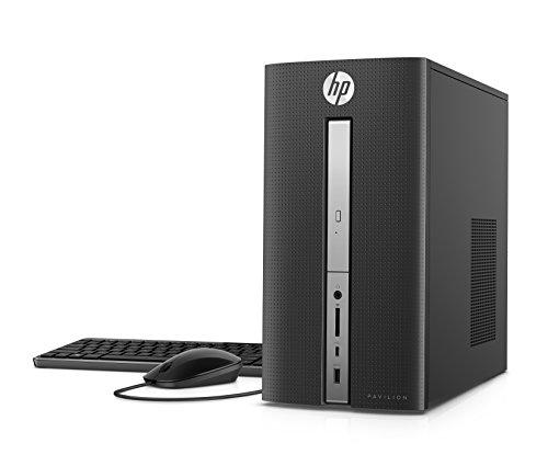 HP Pavilion Desktop Computer, Intel Core i5-7400, 8GB RAM, 1TB Hard Drive, Windows 10 (570-p020, Black)