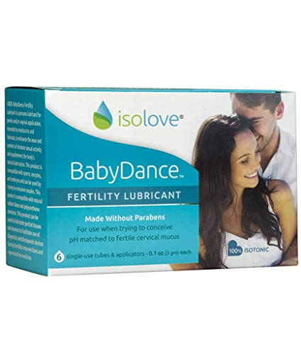 BabyDance Fertility Lubricant: Sperm-Friendly Lube Made Without Parabens - 6 Single Use Tubes with Applicators