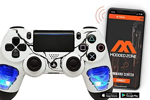 Skulls Blue PS4 PRO Smart Rapid Fire Modded Controller Mods for FPS All Major Shooter Games Warzone & More (CUH-ZCT2U)