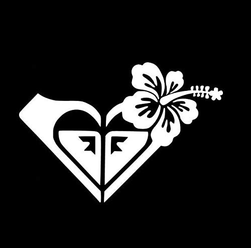 Roxy Hawaiian Flower - Vinyl 5' (Color: White) Decal Laptop Tablet Skateboard car Windows Stickers