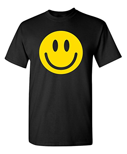 Smile Face Emoticons Graphic Novelty Sarcastic Funny T Shirt XL Black