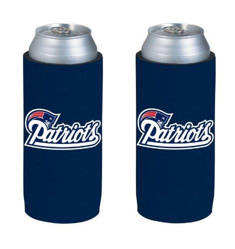 NFL Football Team Color Logo Ultra Slim 12oz Beer Can Holder Insulator Coolers - 2-Pack