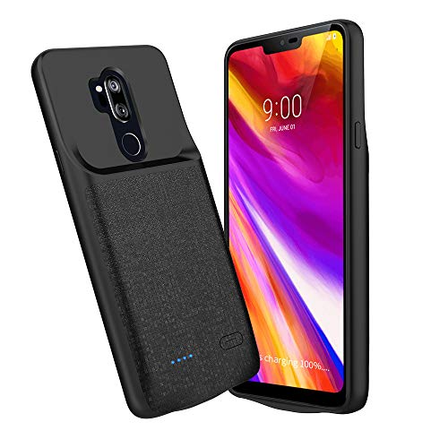 LG G7 Thinq Battery Case, Newdery 4700mAh LG G7 Slim Portable Extended Charger Case with Soft Edge Full Protection, Battery Charging Case with USB C Input for LG G7 Plus ThinQ