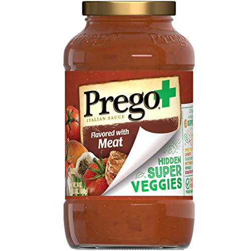 Prego+ Hidden Super Veggies Flavored with Meat Italian Tomato Sauce, 24 Ounce Jar