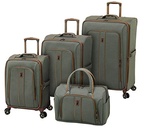LONDON FOG Newcastle 4 Piece Luggage Set, Slate Bronze
