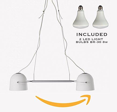 IKEA Svirvel Pendant lamp-double includes 2 LED Light Bulbs BR-30 8W