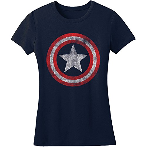 Juniors: Captain America - Shield Juniors (Slim) T-Shirt Size L
