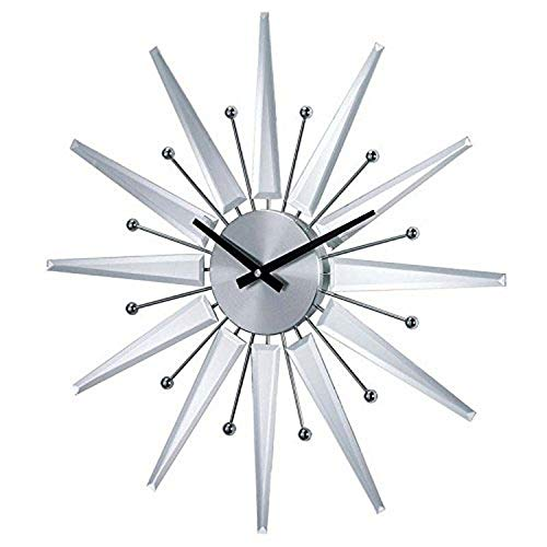 Stilnovo Starburst Wall Clock, Silver