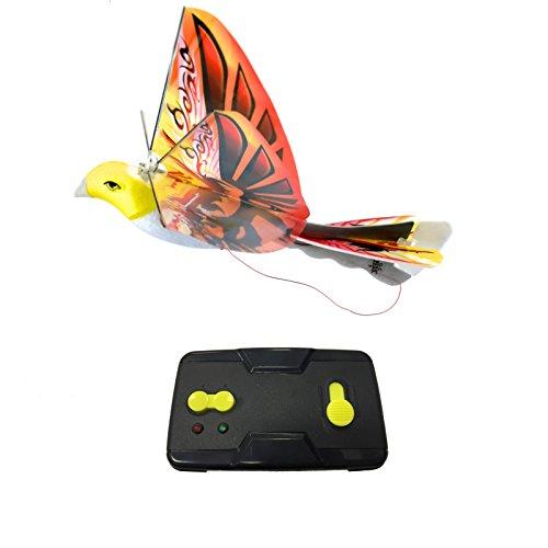 MukikiM eBird Orange Phoenix - 2016 Creative Child Preferred Choice Award Winning Flying RC Toy - Remote Control Bionic Bird (Newest 2.4GHz Version Featuring USB Charging)