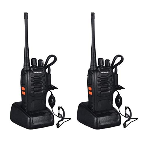 AGPtek 2 Pack Rechargeable Walkie Talkie 3W 16CH Two-Way Radio (Pair) W/built-in 1500MAh Li-ion battery- Support 8 hours