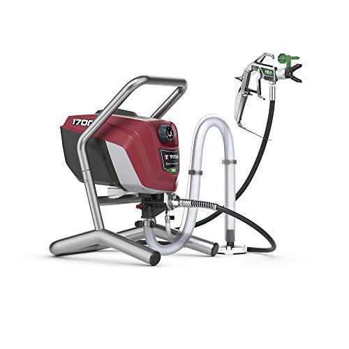 Titan Tool 0580009 Titan High Efficiency Airless Paint Sprayer, HEA technology decreases overspray by up to 55% while delivering softer spray ControlMax 1700, Control Max