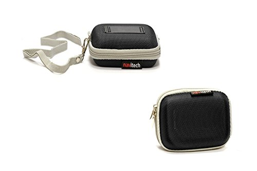 Navitech Black Water Resistant Hard Wireless Earphone Case Cover Compatible with The APIE Bluetooth Wireless Headset Ear Hooks Earphones Noise Cancelling in-Ear Earbuds
