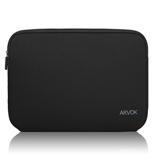 Arvok 15-15.6 Inch Laptop Sleeve Multi-Color & Size Choices Case/Water-Resistant Neoprene Notebook Computer Pocket Tablet Briefcase Carrying Bag/Pouch Skin Cover for Acer/Asus/Dell/Lenovo, Black