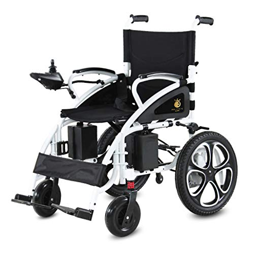 ComfyGO Electric Wheelchair Folding Motorized Power Wheelchairs, Fold Foldable Power Compact Mobility Aid Wheel Chair, Powerful Dual Motor Wheelchair (Silver)