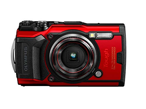 Olympus Tough TG-6 Waterproof Camera, Red (Renewed)