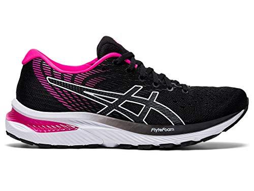 ASICS Women's Gel-Cumulus 22 Running Shoes, 10W, Black/Pink GLO