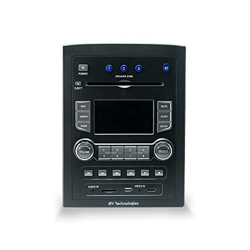 iRV Technology iRV66 AM/FM/CD/DVD/MP3/MP4/USB/SD/HDMI/Digital5.1/Surround Sound/Bluetooth 3 Zones wall mount RV Radio Stereo with wire adaptor Concertone ZX500/600/690/700,Genesis GT-3.0