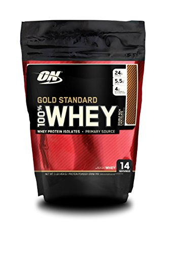 Optimum Nutrition Gold Standard 100% Whey Protein Powder, Double Rich Chocolate, 1 Pound