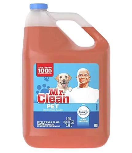 Mr. Clean All Purpose Multi-Surface Pet Liquid Cleaner with Febreze Odor Defense   Has Odor Converters   Eliminates Odor,128 Ounce Bottle