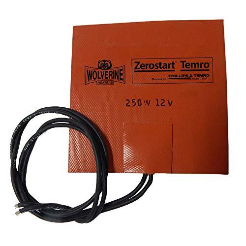 Zerostart 3400053 Silicone Pad Heater Small Reservoir and Hydraulic Fluid Heater, 5' x 5' | 12 Volts | 250 Watts