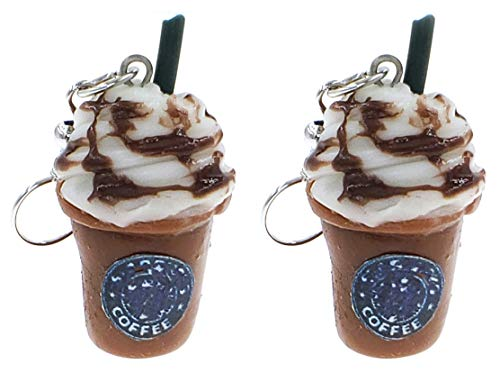 Best Wing Jewelry Blended Ice Coffee Polymer Clay Big Dangle Earrings
