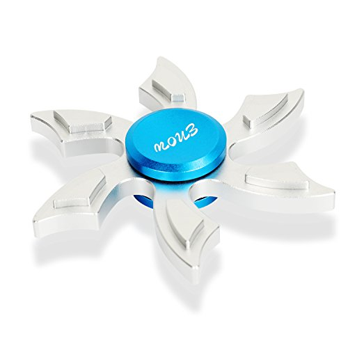 Enow Newest Hands Spinner, Pure Aluminum High Speed Fidget Focus Toys. Perfect for ADHD, EDC Children and Adults to Increase Concentration, Quit Bad Habits, Spins Metal Average 1-5 Minutes